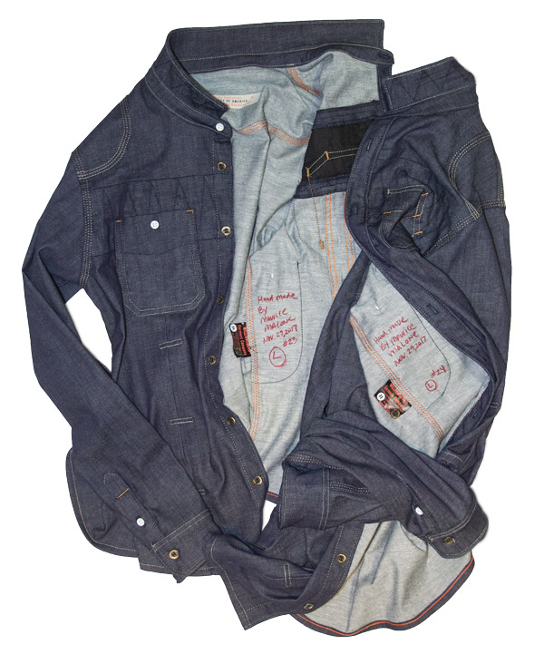 Men's raw denim shirt