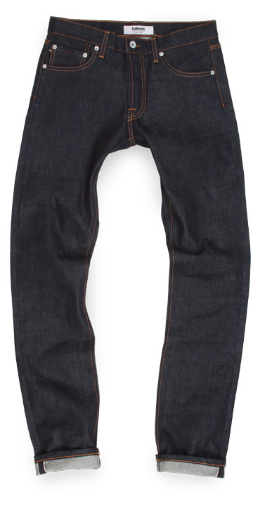 Baldwin Henley selvedge raw denim slim American made jeans