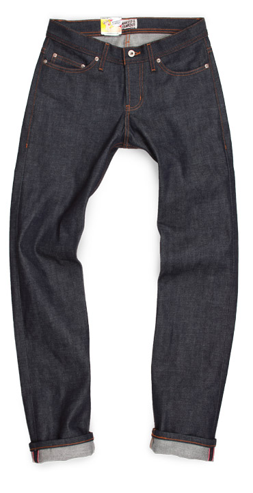 Naked and Famous selvedge raw denim Weird Guy slim fit jeans