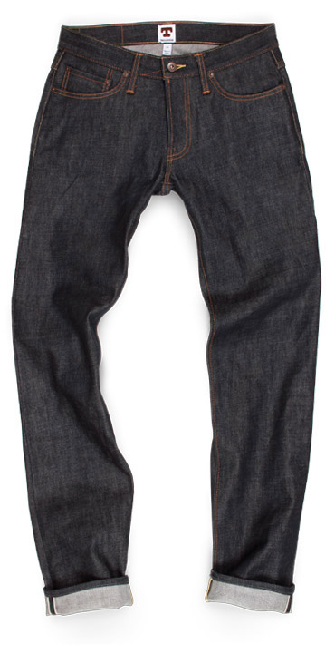 Tellason Ladbroke Grove Slim raw denim slim fit American made jeans