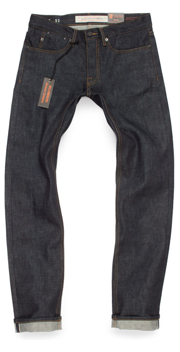 Grand St selvedge raw denim slim fit American made jeans