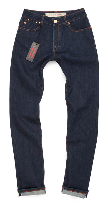 Women's Williamsburg Driggs Ave dark blue slim selvedge jeans