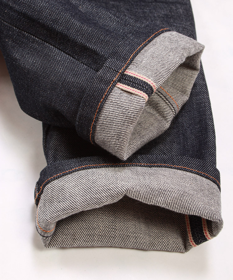 A.P.C. jeans made with trouser styled regular stitch hem