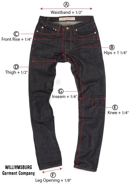 How Does Raw Denim Stretch - Williamsburg Garment Co-6113
