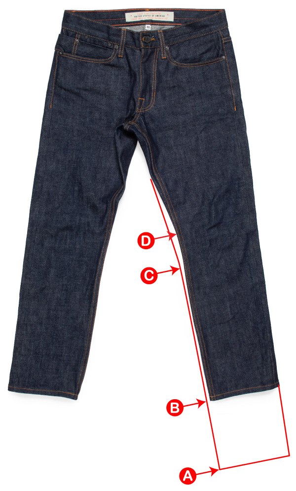 Hemming jeans from 30x34 to 30x28 with added tapering