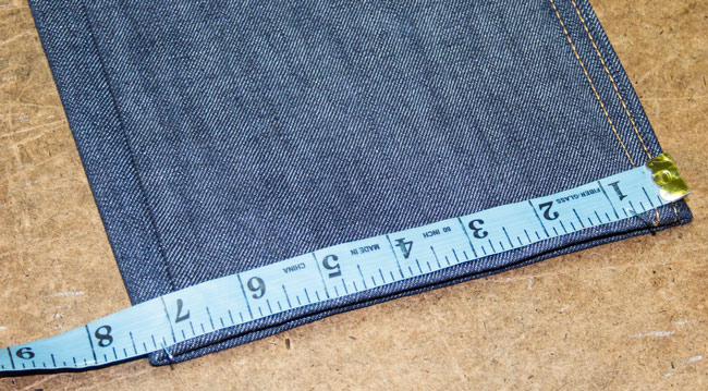 How to measure jeans leg opening