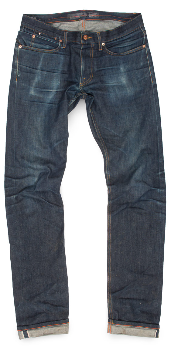 raw denim fades on dark never washed jeans