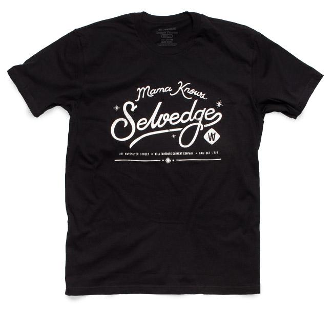 Mama knows selvedge black t-shirt