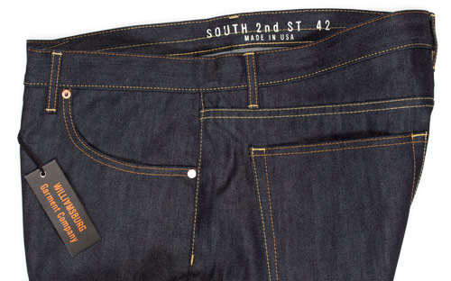 raw denim mens jeans size 42 made in usa close-up