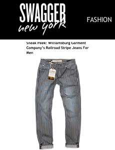 Williamsburg stripe jeans Swagger New York cover