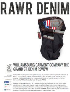williamsburg men's raw selvage denim jeans
