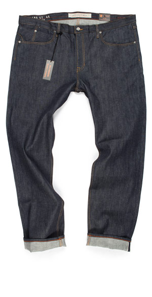 Size 44 jeans for big guys slim raw denim made in USA