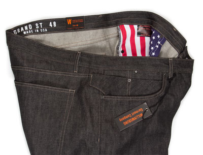 Big mens size 48 jeans in black selvedge made in USA