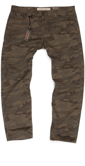 slim fit size 48 pants in camouflage for fit guide