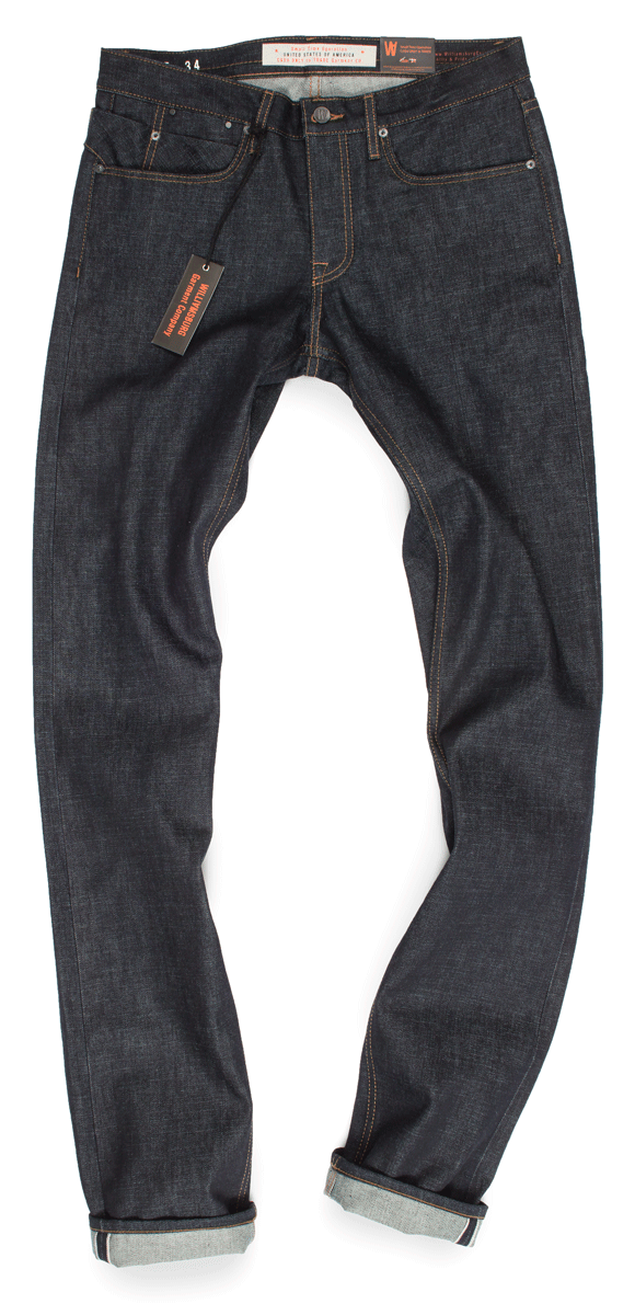 Williamsburg 15-oz. raw selvedge tall mens jeans, size 34 x 40-inseam