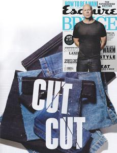 Esquire S. Korea features raw denim Williamsburg jeans