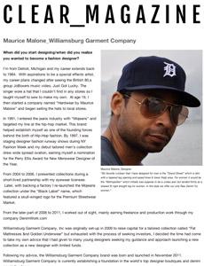 Denim Designer Maurice Malone of Williamsburg Garment Co.