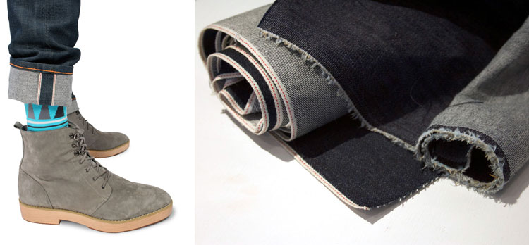 What is selvedge examples, jeans cuffed & roll of selvedge vs non-selvedge denim fabric